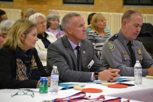 Judges Gigi Windley, Commissioner Steve Wilson, and Sheriff Gary Hofmann