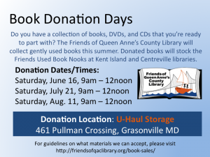 Book Donation Days
