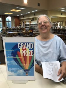 """Angela D., who claims she """"never wins anything,"""" was the winner of a hot-air balloon ride, thanks to the Library's Adult Summer Reading Program."""